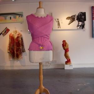 cotton yarn, metal, ribbon